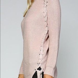 NEW lace up sides sweater